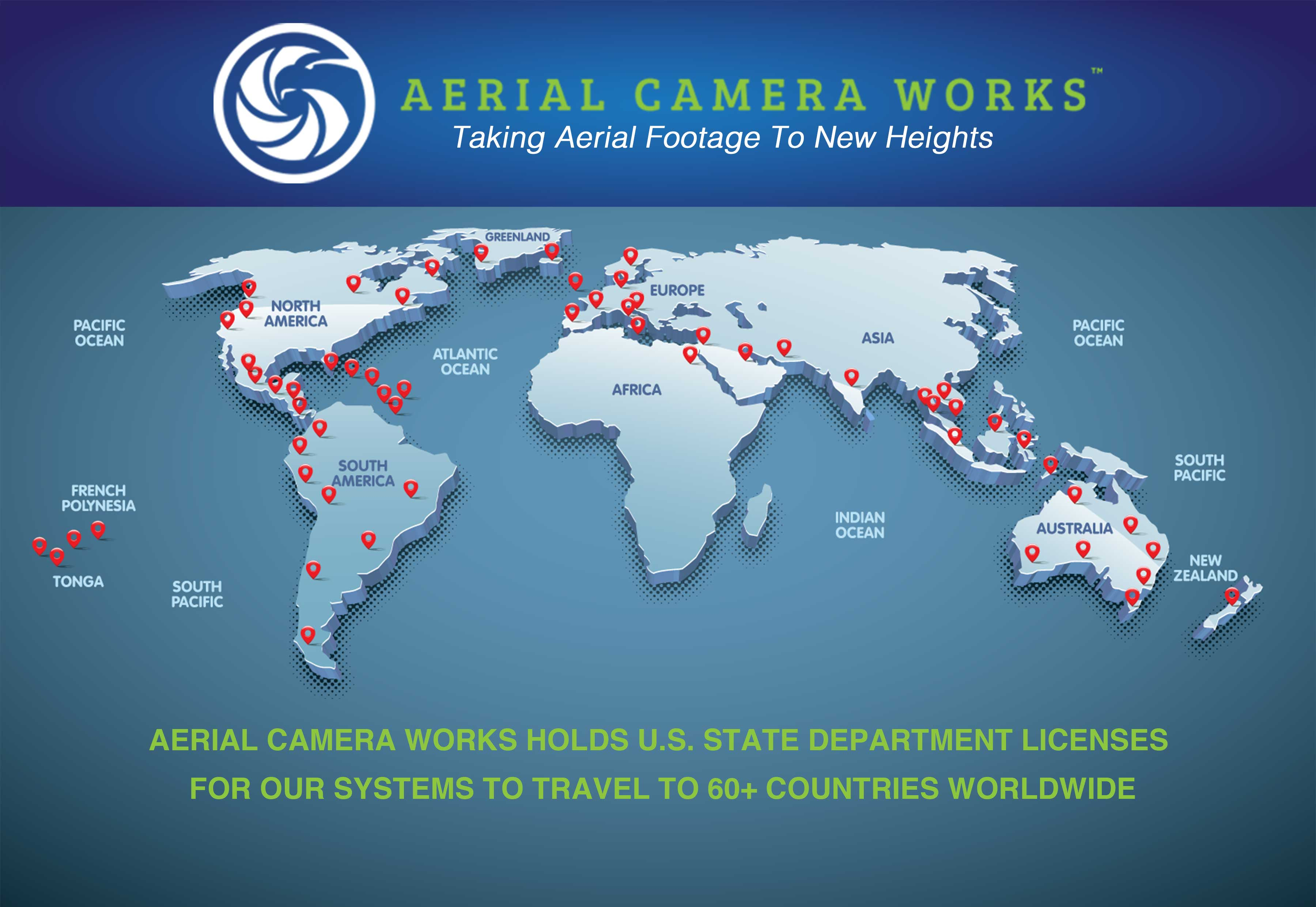 Aerial Camera Works Licensed in 60 Countries